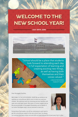Welcome to the New School Year!