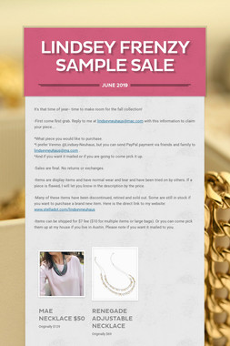 Lindsey Frenzy Sample Sale