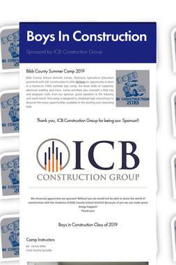Boys In Construction