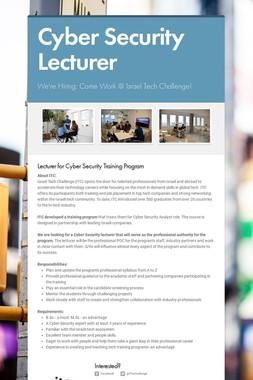 Cyber Security Tech Lead