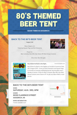 80's Themed Beer Tent