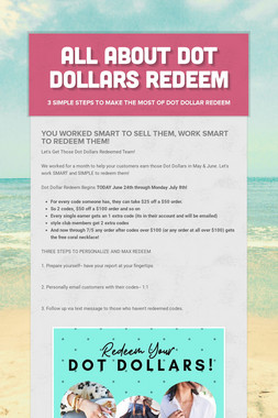 All About Dot Dollars Redeem
