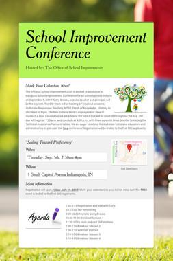 School Improvement Conference