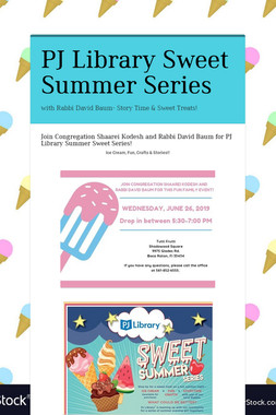 PJ Library Sweet Summer Series