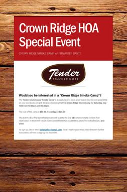 Crown Ridge HOA Special Event