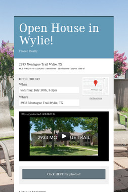 Just Listed in Wylie, TX!