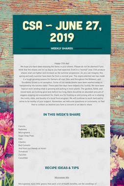 CSA ~ June 27, 2019
