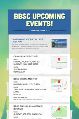 BBSC Upcoming Events!