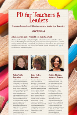 PD for Teachers & Leaders