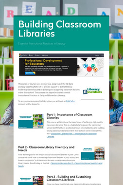 Building Classroom Libraries