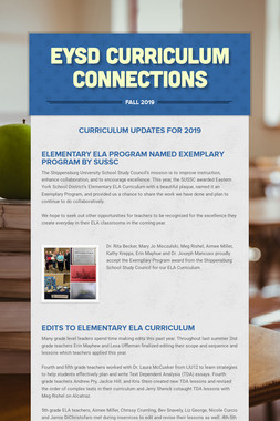 EYSD Curriculum Connections