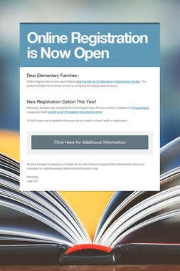 Online Registration is Now Open