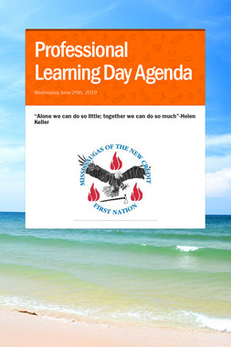 Professional Learning Day Agenda
