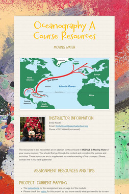 Oceanography A Course Resources