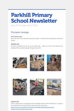Parkhill Primary School Newsletter