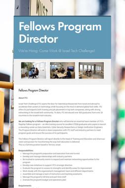 Fellows Program Director