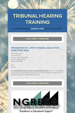Tribunal Hearing Training