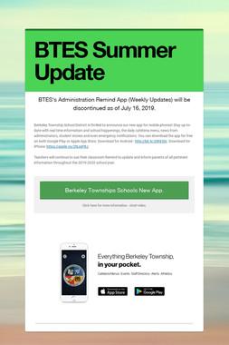 BTES Summer Update