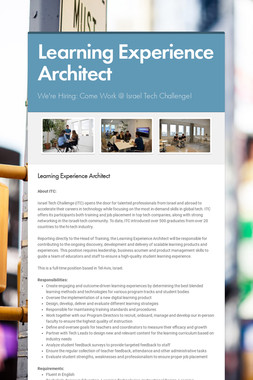 Learning Experience Architect