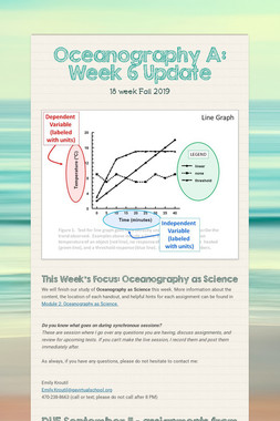 Oceanography A: Week 6 Update