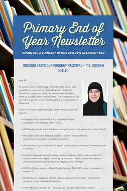Primary End of Year Newsletter