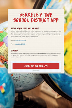 Berkeley Twp. School District App