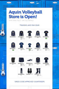 Aquin Volleyball Store is Open!