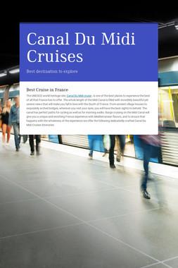 Canal Du Midi Cruises