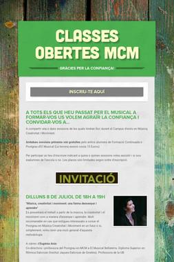 Classes obertes MCM