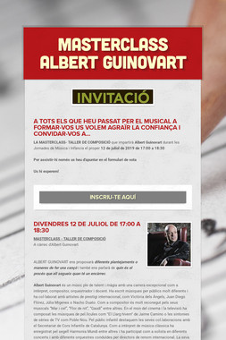 MASTERCLASS ALBERT GUINOVART