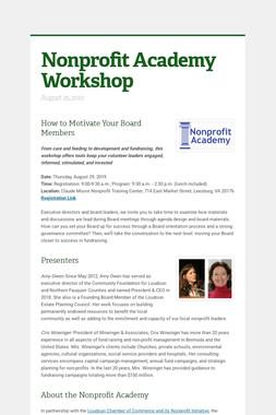Nonprofit Academy Workshop