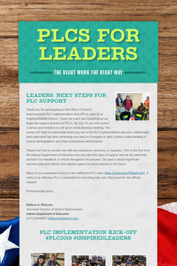 PLCs for Leaders