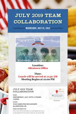 July 2019 Team Collaboration