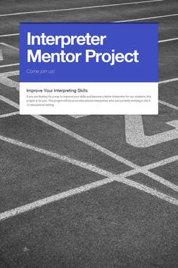 Interpreter Mentor Project