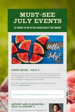 Must-See July Events