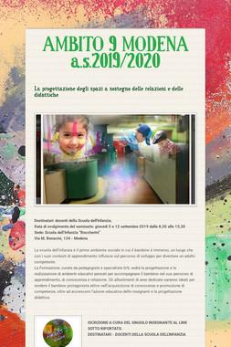 AMBITO 9 MODENA  a.s.2019/2020