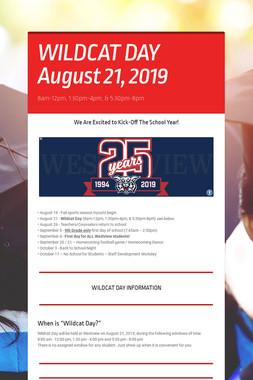 WILDCAT DAY August 21, 2019