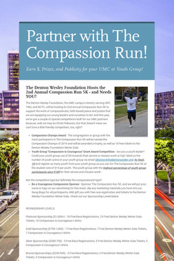 Partner with The Compassion Run!