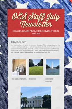 OES Staff July Newsletter