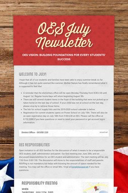OES July Newsletter