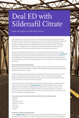 Deal ED with Sildenafil Citrate