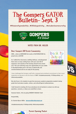 The Gompers GATOR Bulletin- Sept. 3