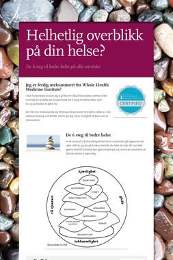 Helhetlig overblikk på din helse?