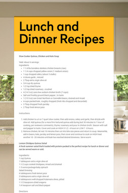Lunch and Dinner Recipes