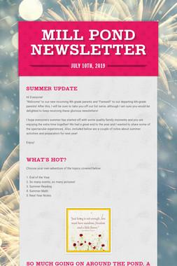 Mill Pond Newsletter