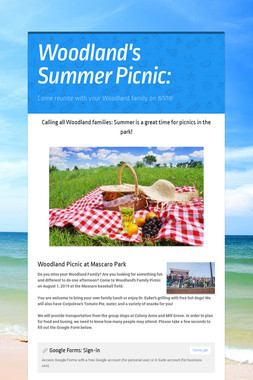 Woodland's Summer Picnic: