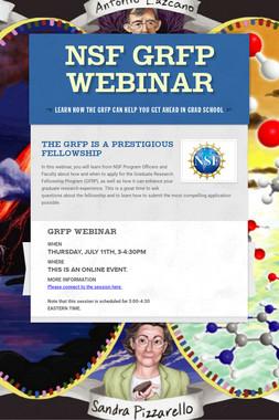 NSF GRFP Webinar
