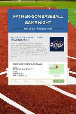 Father-Son Baseball Game Night