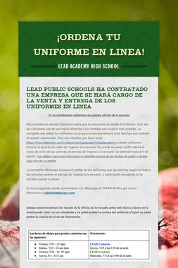 ¡Ordena tu Uniforme en Linea!