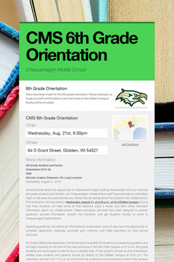 CMS 6th Grade Orientation